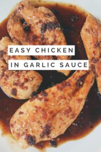 Easy Chicken in Garlic Sauce with sherry and soy is fast and healthy! Asian flavor with a little sweetness--great for your weeknight menu rotation!