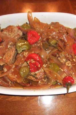Pork Chops with Sweet Cherry Peppers