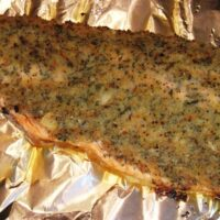 Trout with Roasted Garlic and Rosemary