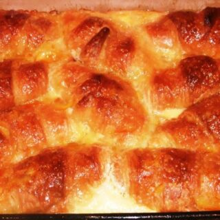 Croissant a l'Orange or Orange Croissant Breakfast Casserole