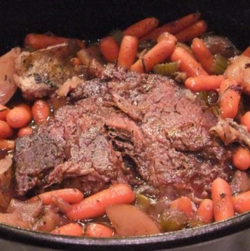 Pot Roast with vegetables in a classic sauce--it's an easy, one-pot meal and comfort food at its best!