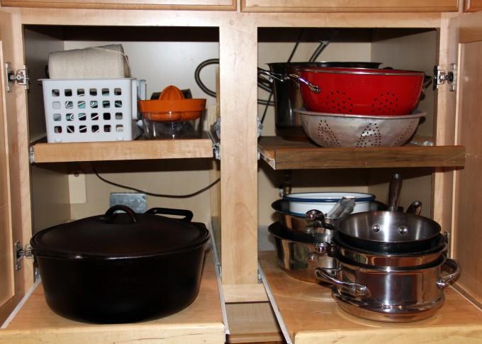 Kitchen Reorganization Pots