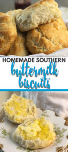Homemade Buttermilk Biscuits rise up flaky, soft, and so buttery every time. This recipe gives you easy step-by-step instructions to make the best biscuits with no rolling and no cutting required!
