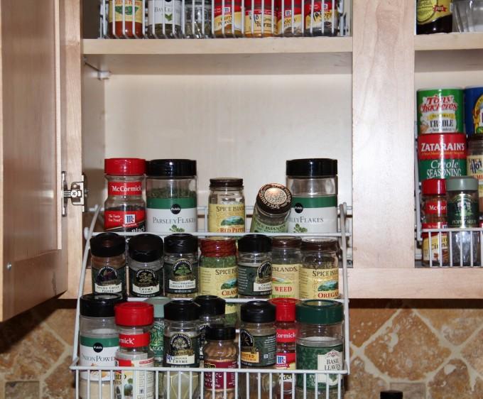 Kitchen Makeover spice rack