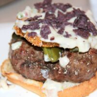 Bobby Flay's Sante Fe Burger with Fried Green Tomatoes
