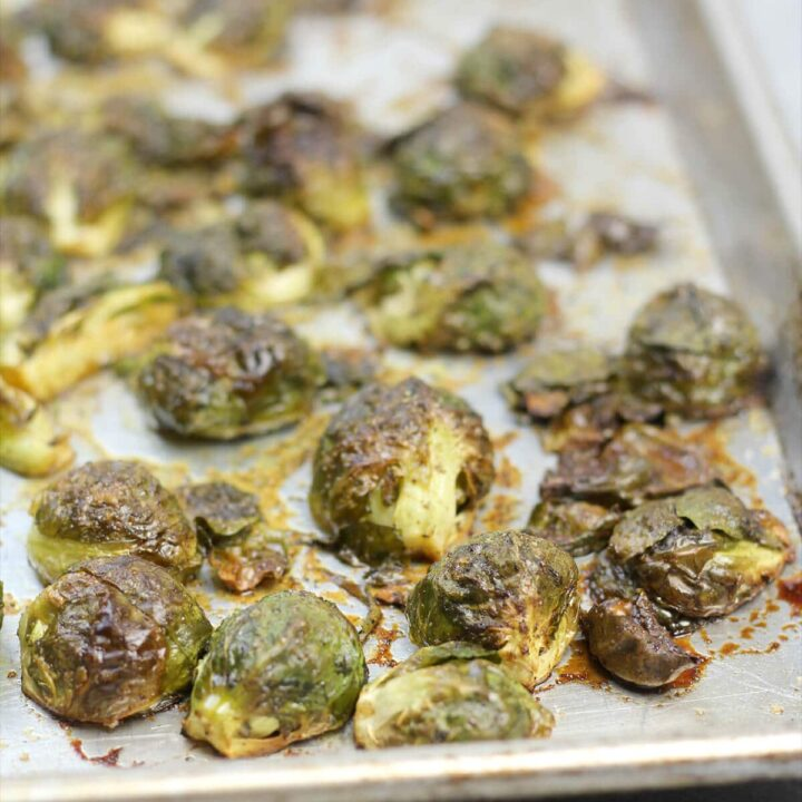 Caramelized Roasted Brussels Sprouts