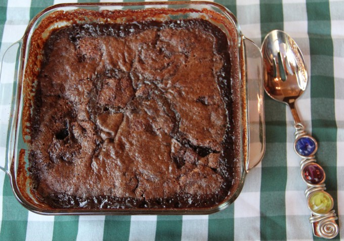Chocolate Cobbler is fudgy and delicious.