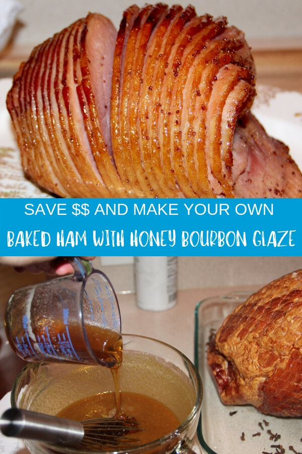This baked ham recipe features a honey and brown sugar glaze with bourbon and orange juice—better than store-bought and half the price!