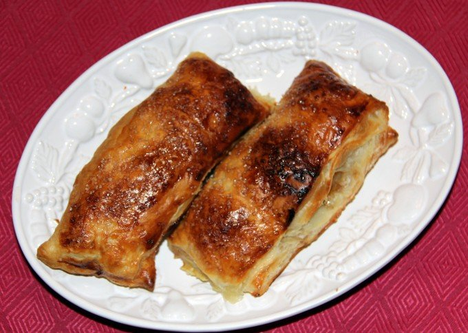 plate of french apple turnovers