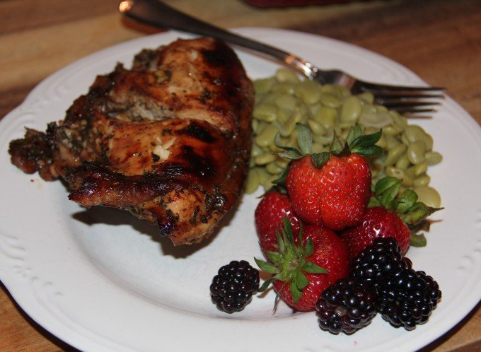 Balsamic Roasted Chicken with butterbeans