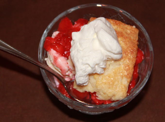 Strawberry Shortcake in a bowl