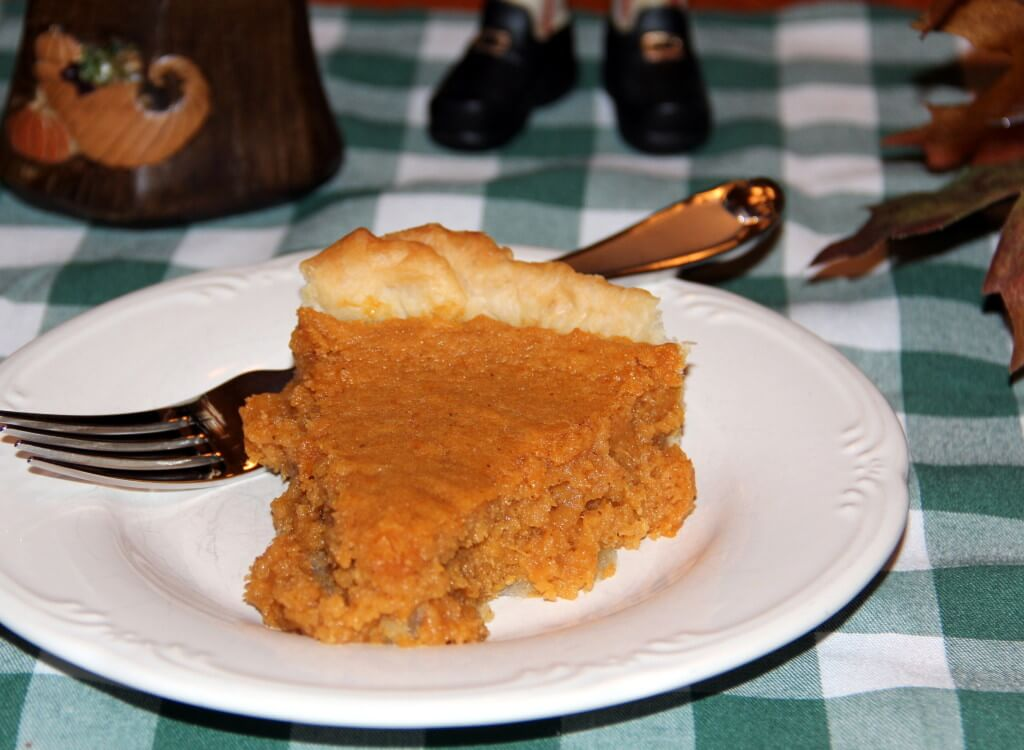 Sweet Potato Pie slice on a plate.