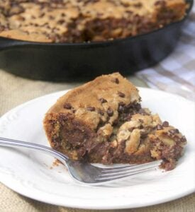 Chocolate Chip Cookie Pie in a Skillet – with Double Chocolate!