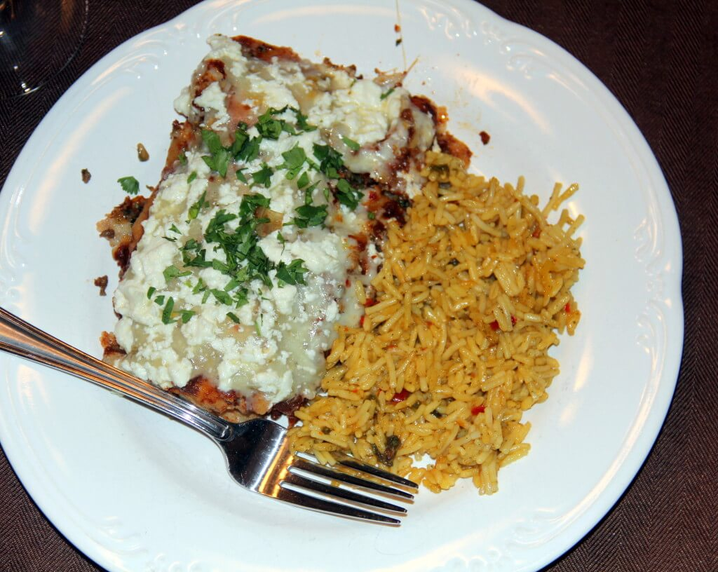 Beef Enchilada and Sauce