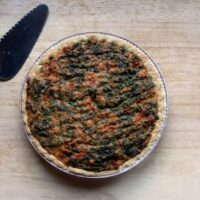 Tomato, Spinach and Cheese Quiche