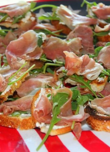 Prosciutto, Arugula, and Cheese