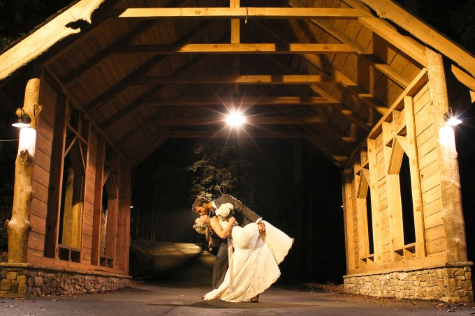 wedding covered bridge