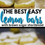 Easy lemon bars with a zesty lemon custard atop a crisp brown sugar shortbread crust--these lemon bars are lovely and delicious!