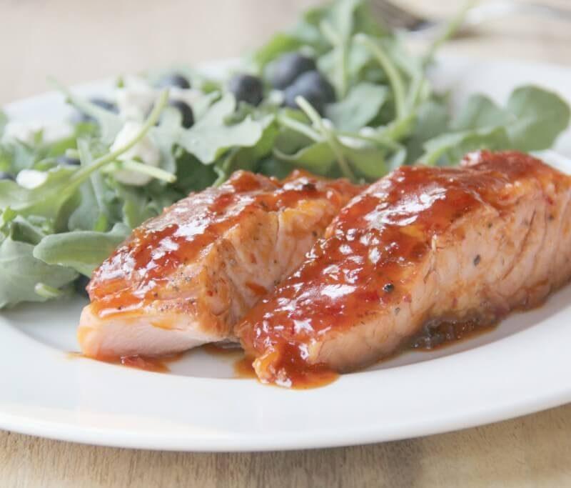 Apricot-Chili Glazed Fish
