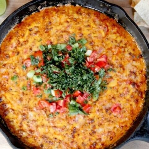 Pimento Cheese Queso Fundido with Chorizo