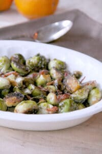 Maple and Balsamic Glazed Brussels Sprouts