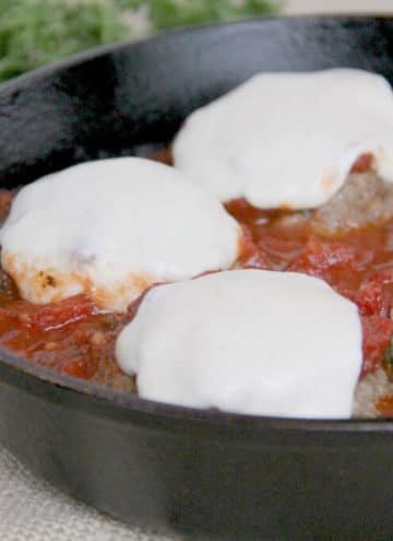 Baked Meatballs in Skillet