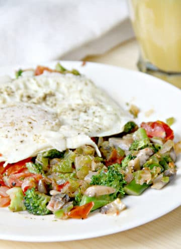 Vegetable Hash with Eggs