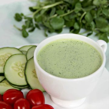 Green Goddess Dressing served with vegetables