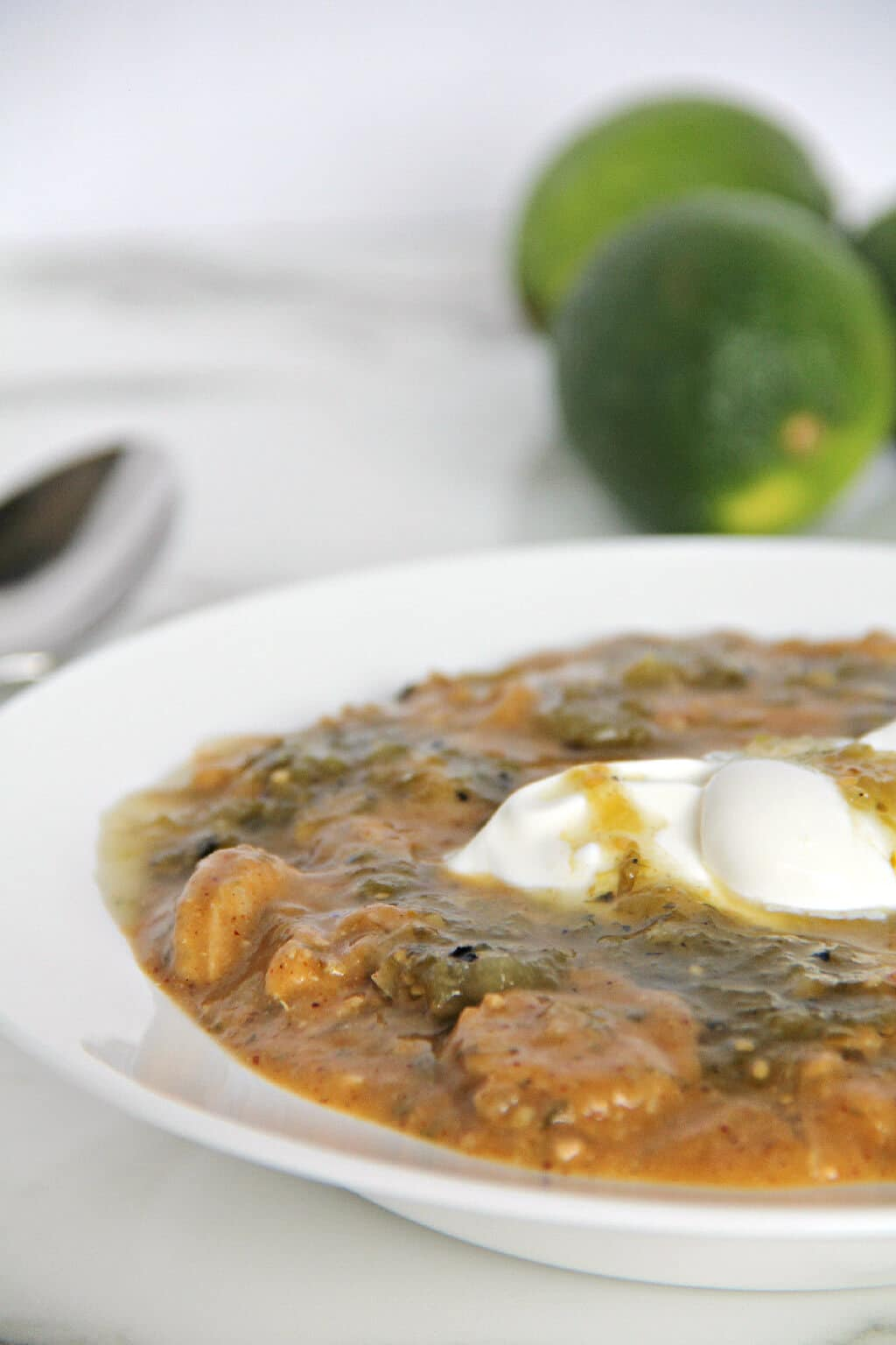 White Chicken Chili with Sausage | inasouthernkitchen.com
