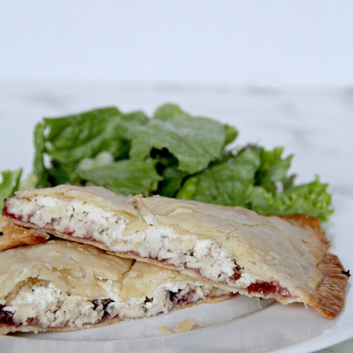 Leftover Turkey Hand Pies with Cranberry Sauce and Boursin Cheese