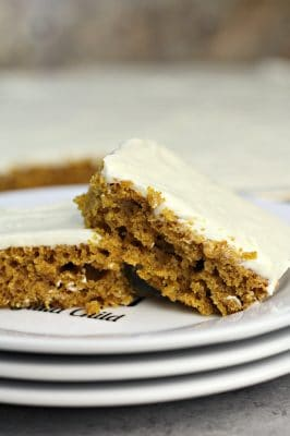Pumpkin Sheet Cake with White Chocolate Cream Cheese Frosting