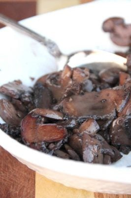 Red Wine and Shallot Sautéed Mushrooms