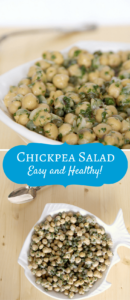 Chickpea Salad that's easy and healthy!