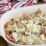 Roasted Shrimp, Red Peppers, and Feta