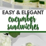 These cucumber tea sandwiches are simple to make and will lend an old-fashioned elegance to your next party!