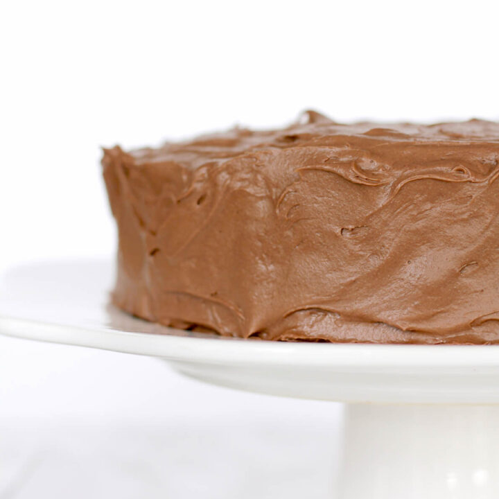 Chocolate Cream Cheese Icing made with Hershey's cocoa, butter, and powdered sugar. It's quick and easy with no cooking required!