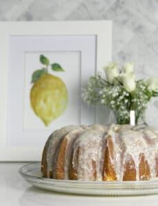 Lemon Pound Cake with Lemon Glaze is super easy and lemony fresh delicious!