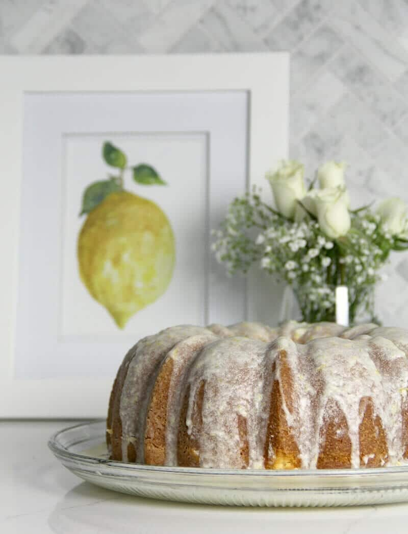 Easy Lemon Pound Cake with Lemon Glaze