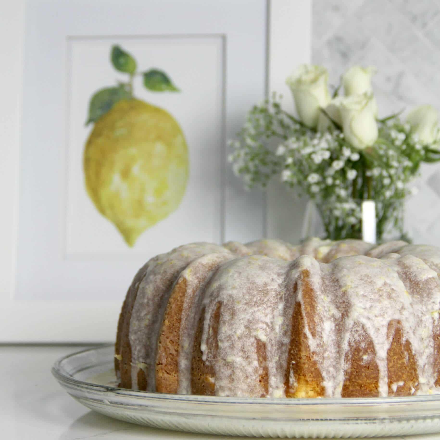 Easy Lemon Pound Cake With Lemon Glaze