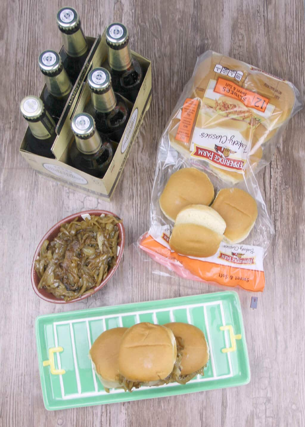 Country Fried Steak Sliders with Caramelized Onions will elevate your next tailgate to the knockout level! Wow your guests with these easy, tasty sliders!