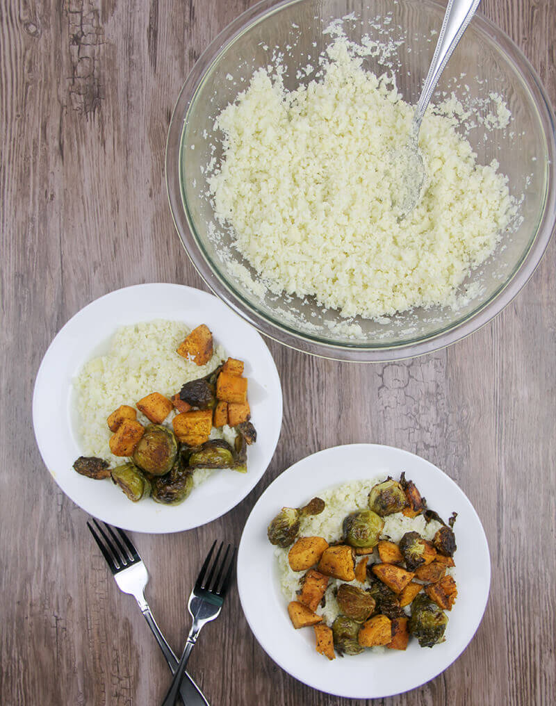 Cauliflower rice is a carb-free alternative to rice and potatoes that can accompany almost any meat or vegetable dish.