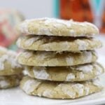Lemon Crinkle Cookies with Brown Sugar
