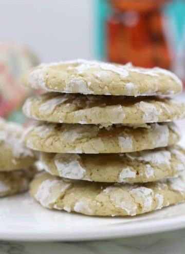 Lemon crinkle cookies with fresh lemon zest and juice and a nice addition of brown sugar. These are easy and so much better than cake mix cookies!