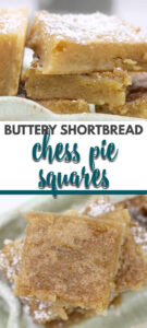 Chess Squares are an easy variation of Chess Pie, with a buttery shortbread crust and a sweet chess pie filling. They're made from just a few simple ingredients, so they're easy to make and taste divine!