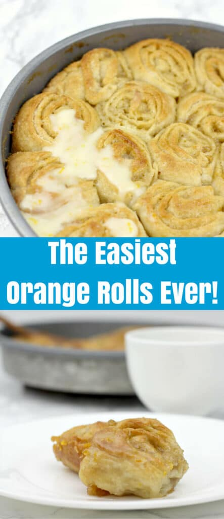 These easy Orange Rolls are made with refrigerated French bread dough, orange marmalade, and orange zest--so simple and kids love them! You can use either a glaze or a cream cheese icing for these simple, easy orange rolls and tantalize your guests with the smell of a bakery right in your kitchen.
