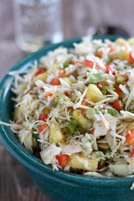 Pineapple Coleslaw with Jalapeno and Bell Pepper