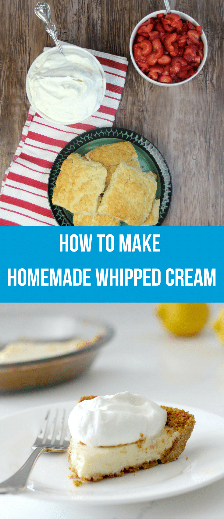 Homemade whipped cream is quick and easy to make and tastes so much better than anything from a can or tub! Even a kid can make it!