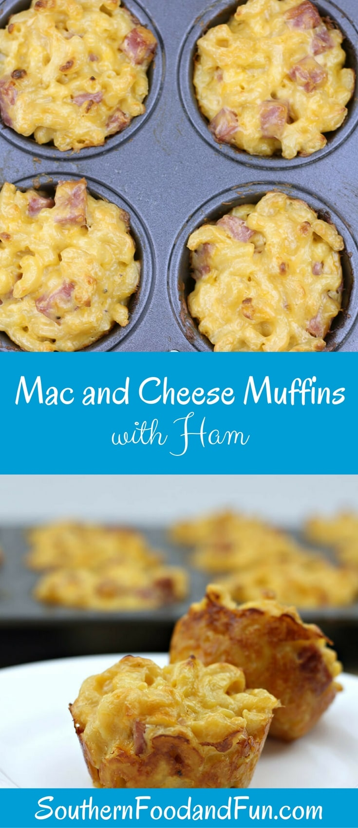 Mac and cheese muffins are super easy to make with leftover macaroni and cheese. Add some diced ham and you'll have a great snack!