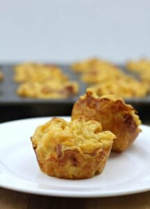 Mac and Cheese Muffins with Ham