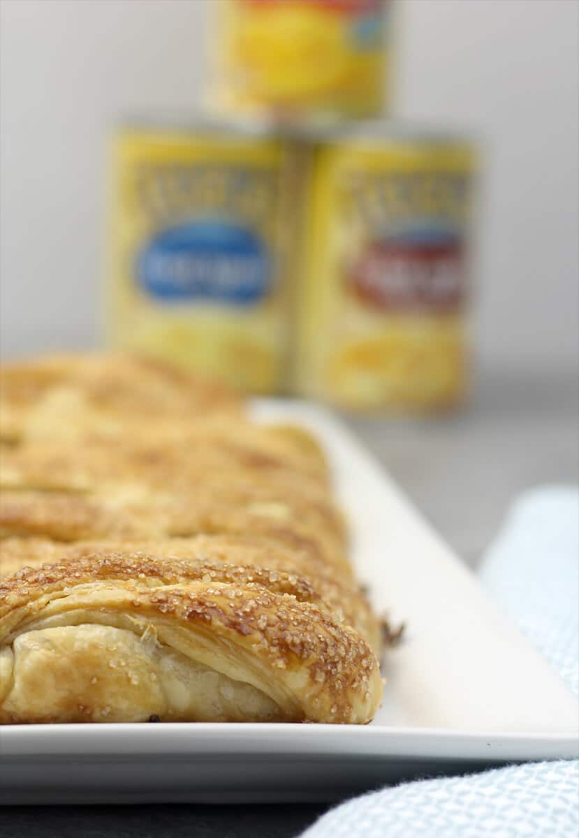 Easy Apple Strudel with Canned Fruit and Puff Pastry